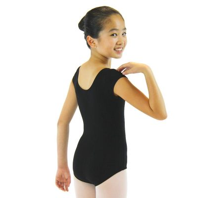 Black short sleeve leotard