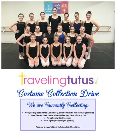 FYDE dancers and costume drive information
