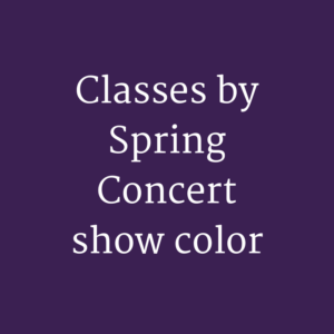 Classes by Show