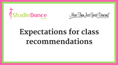 class recommendation expectations